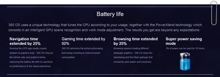 battery life 360 os
