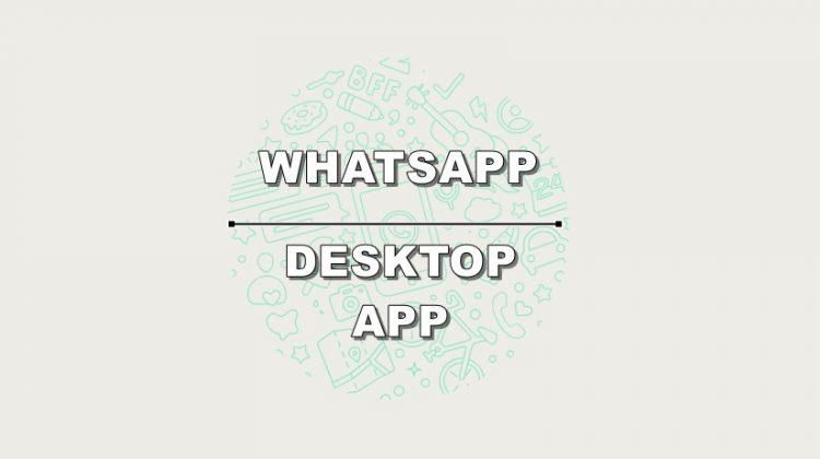 Download Whatsapp Desktop App Official Release
