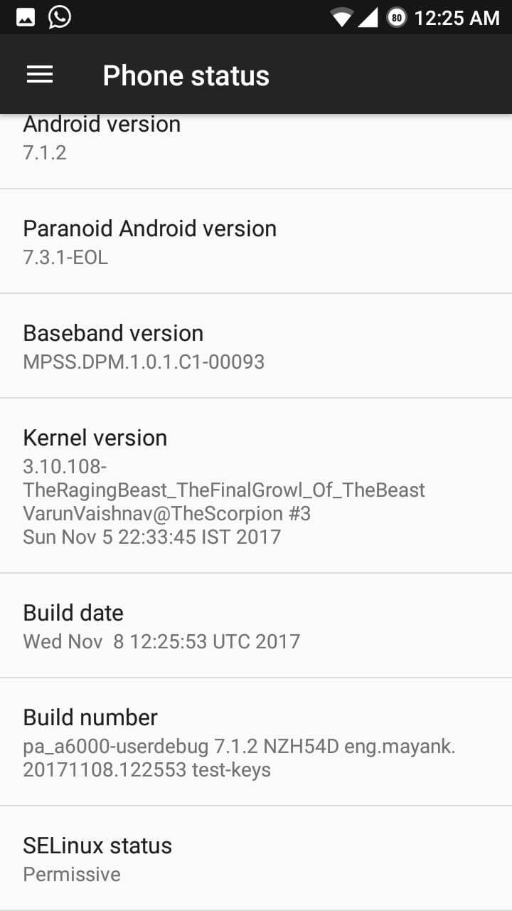 Lenovo A6000 Paranoid Android