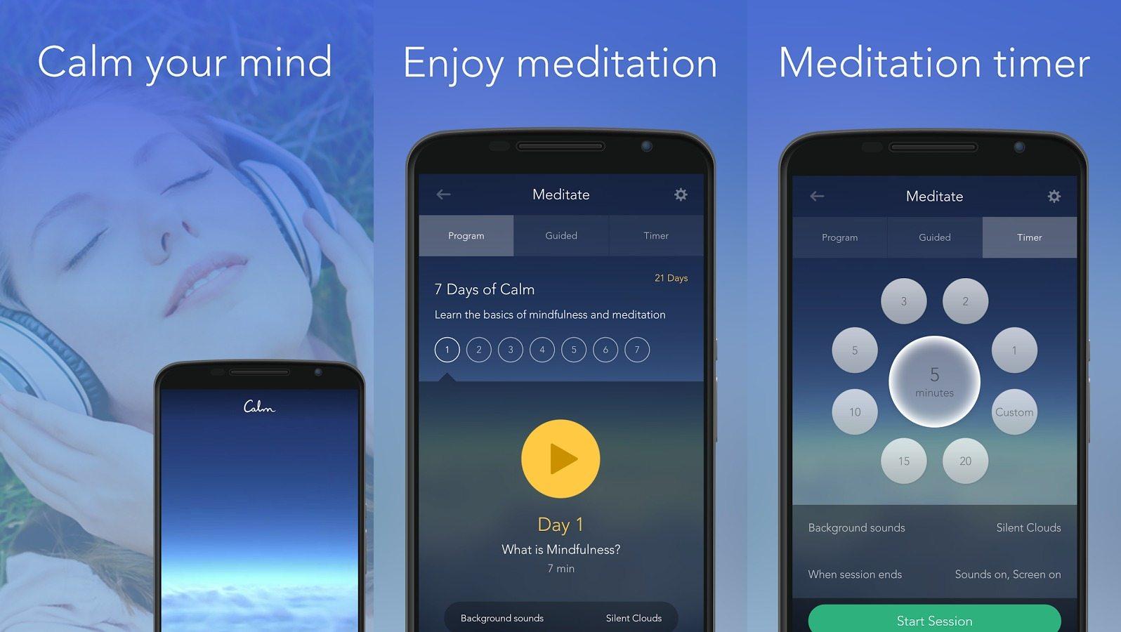 meditating tips android app