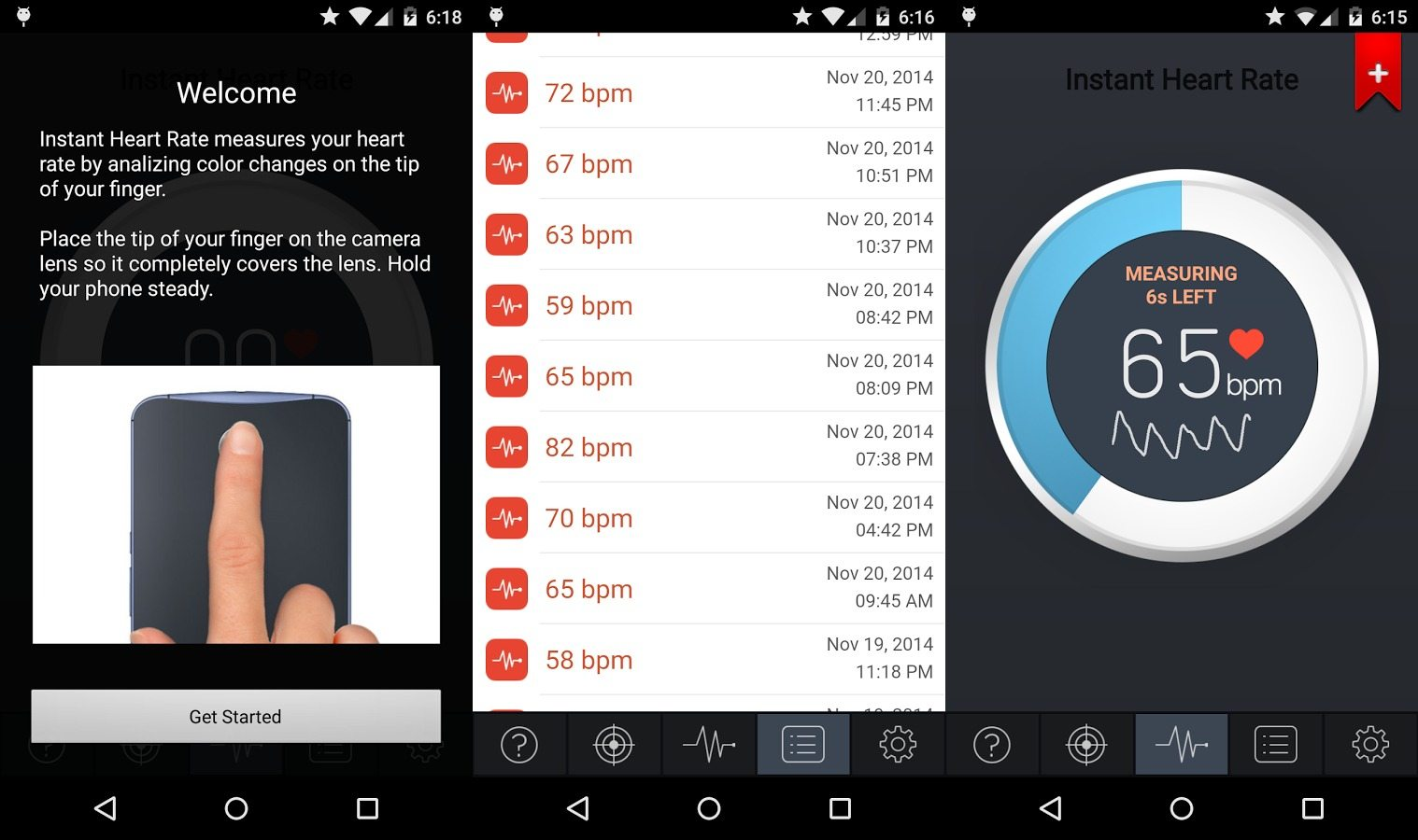 heart rating app android
