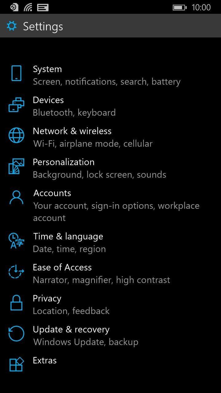 cleaner settings windows 10