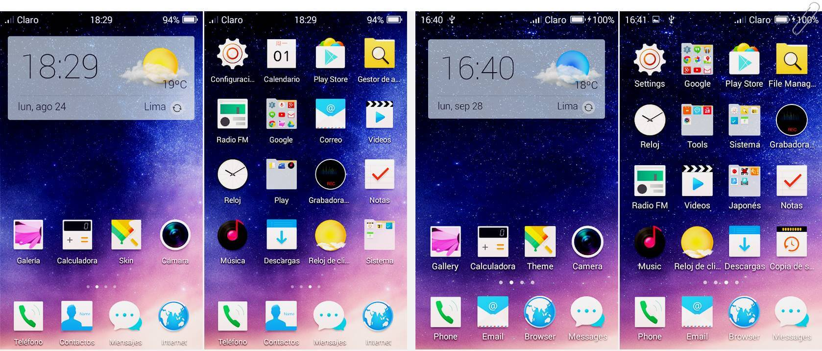 coolpad note 3 lite custom rom homescreen