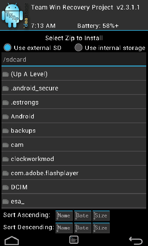 lenovo a690 twrp recovery
