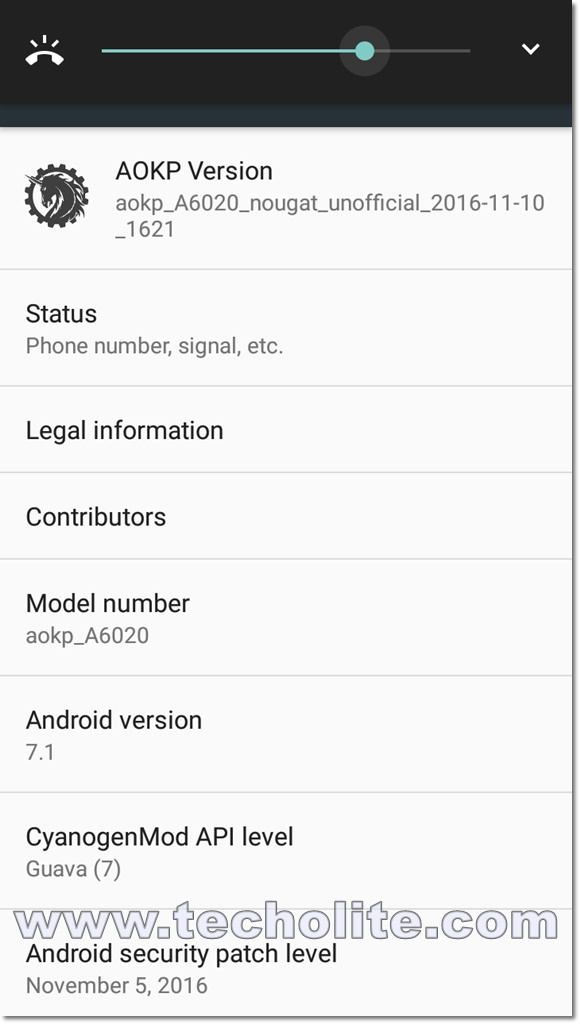 vibe k5 plus nougat screenshot