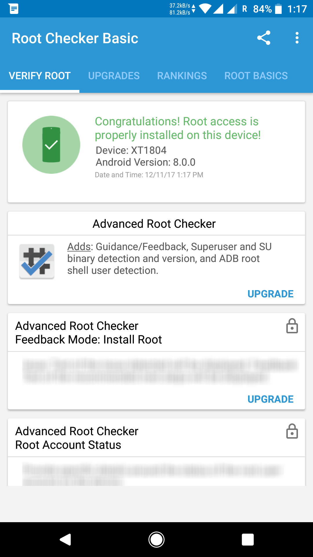 rooted moto g5s plus screenshot